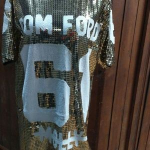 Dresses & Skirts - Gold sequence Tom Ford dress